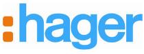 Groepenkast of verdeelkast Hager logo